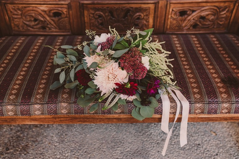 Bouquet at Central Coast wedding at Casita Estates organized by PIsmo Beach Wedding Planners Sandcastle celebrations